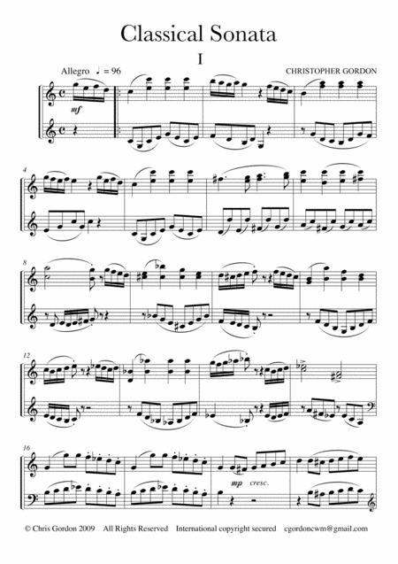 Classical Sonata (for Piano)
