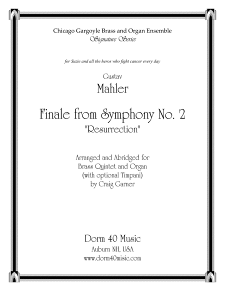 Finale, from Symphony  No. 2