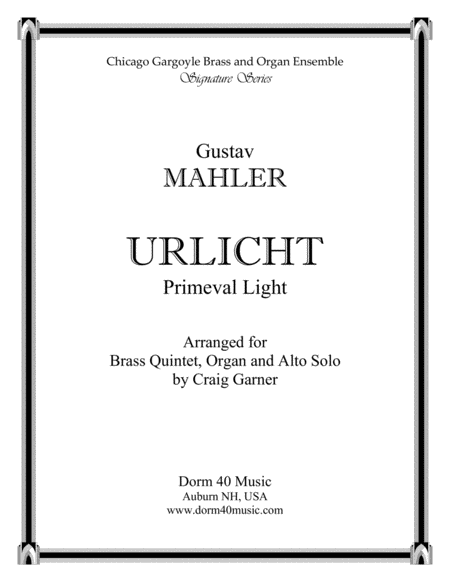 Urlicht (Primeval Light), Fourth Movement, Symphony No. 2 (Alto Solo)