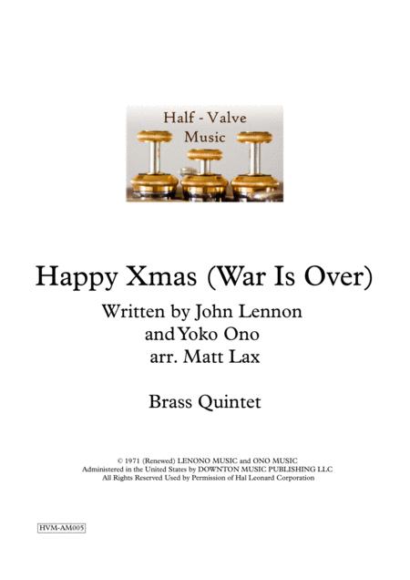 Happy Xmas (War Is Over) (Brass Quintet)