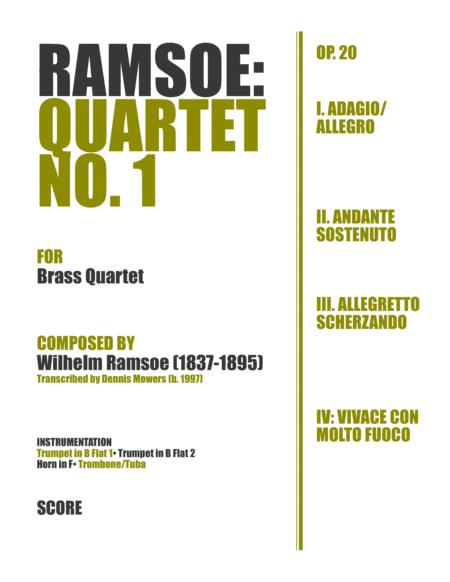 Quartet No. 1 for Brass - Wilhelm Ramsoe, Op. 20
