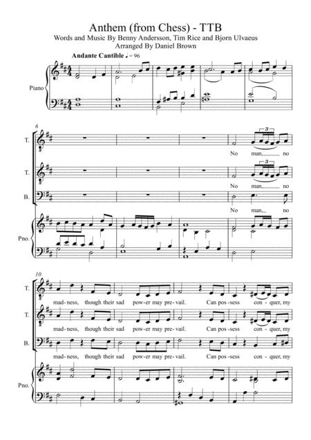 Anthem (from Chess) - TTB