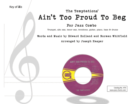 Ain't Too Proud To Beg (jazz combo instrumental)