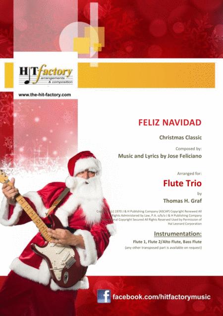 Feliz Navidad - Christmas Classic - Flute Trio