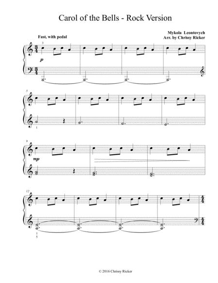 Carol of the Bells - Rock Version (Easy Piano)