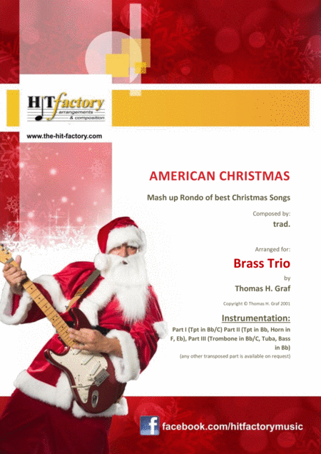 American Christmas - Mash up Rondo of best Christmas Songs - Brass Trio