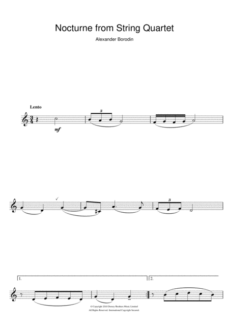 Nocturne From String Quartet No.2