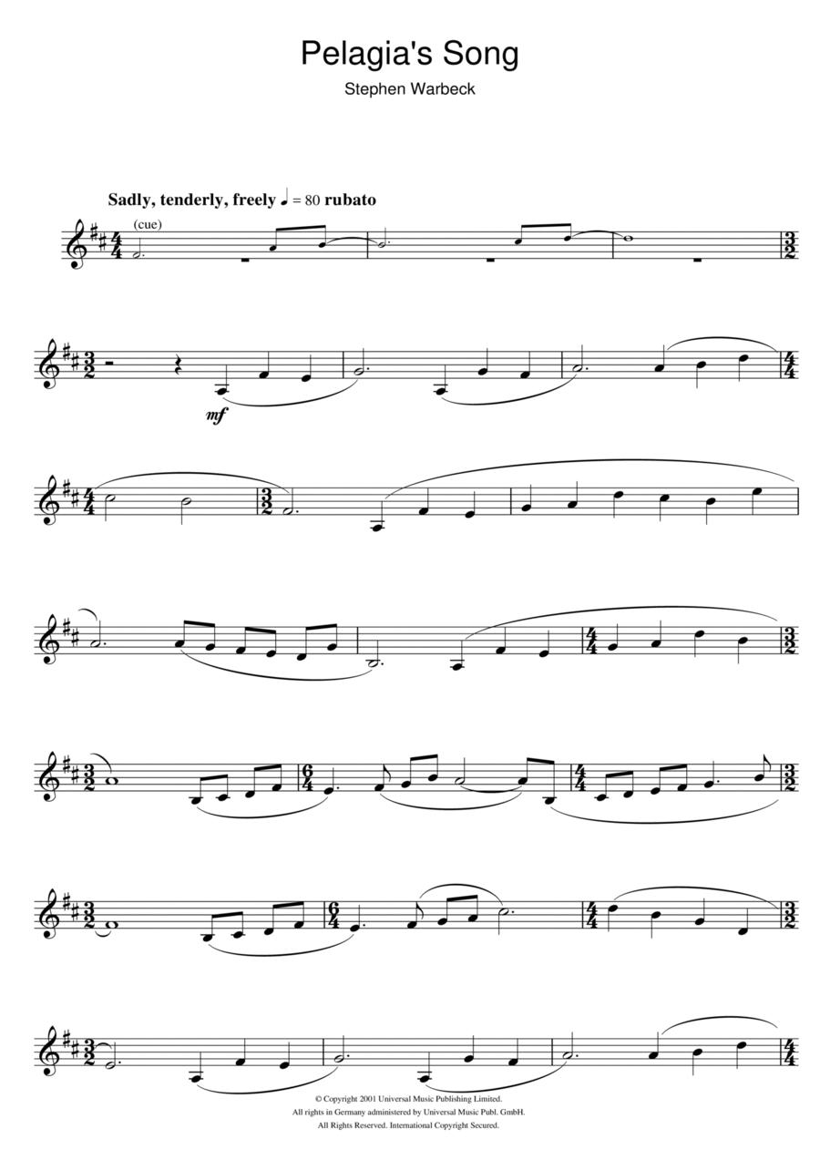Pelagia's Song (from Captain Corelli's Mandolin)