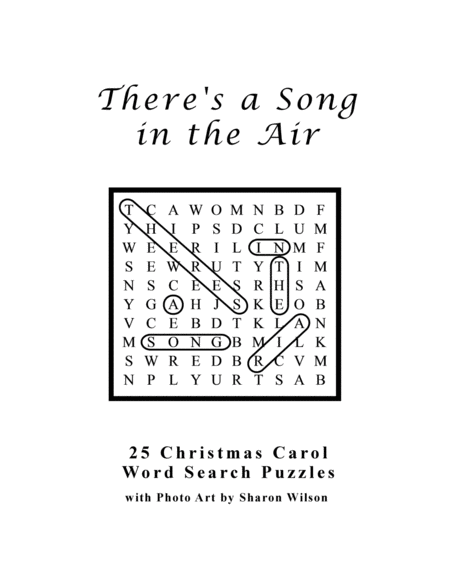 There's a Song in the Air (25 Christmas Carol Word Search Puzzles)