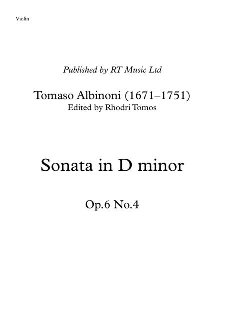 Albinoni Op6 No4 Trattenimenti armonici - Sonata in D minor