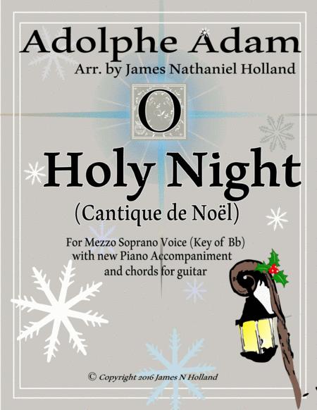 O Holy Night (Cantique de Noel) Adolphe Adam for Solo Mezzo Soprano Voice (Key of Bb)