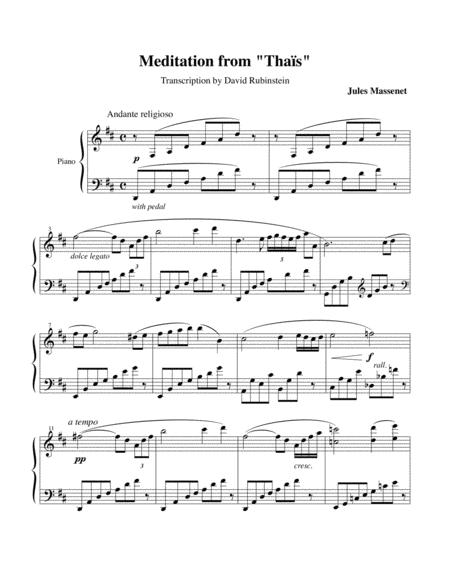 Méditation from Thaïs - piano transcription