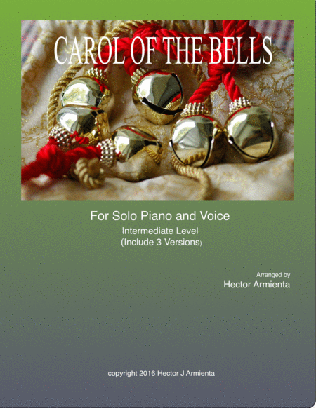 Carol of the Bells - Solo Piano with vocal melody