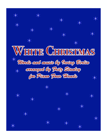 White Christmas for Piano Four Hands