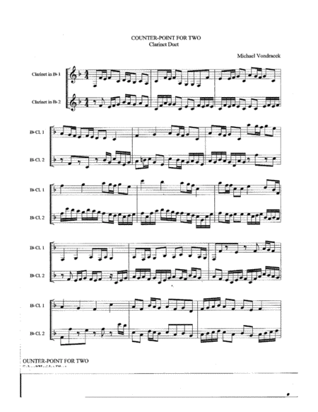 Counterpoint for Two Clarinets