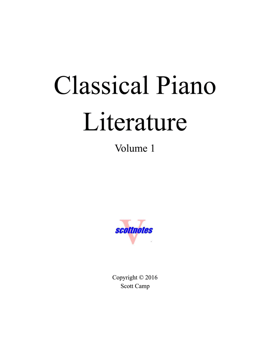Classical Piano Literature (with Piano Fingering)