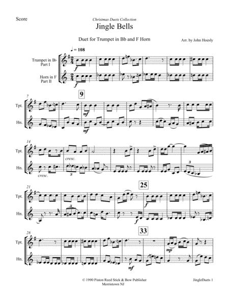 Jingle Bells- duet trumpet and trombone