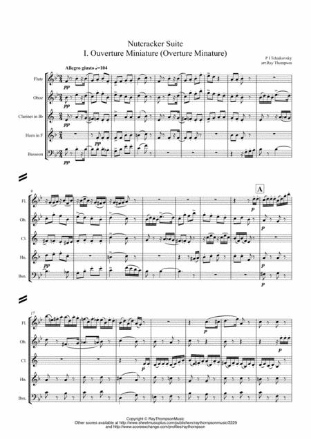 Tchaikovsky: Casse-Noisette:Nutcracker Suite I. Ouverture Miniature (Miniature Overture) - wind quintet