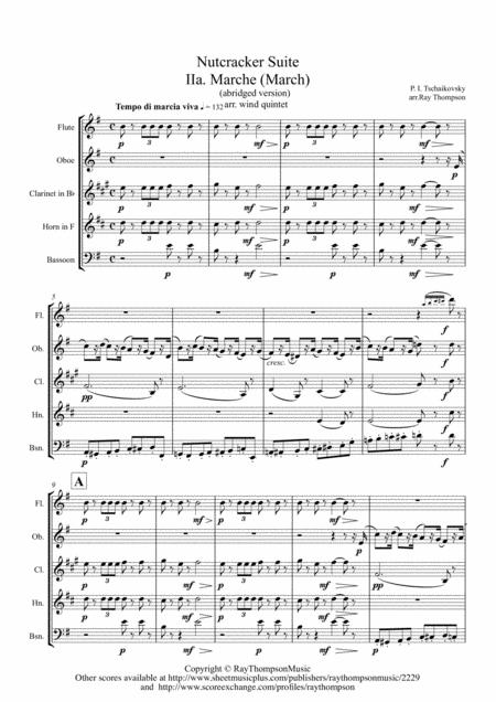 Tchaikovsky: Casse-Noisette: Nutcracker Suite IIa. Marche (March) (abridged) - wind quintet