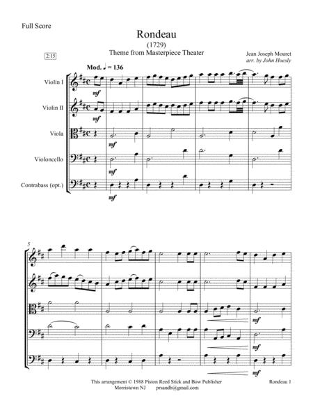 Rondeau- string quartet with optional bass