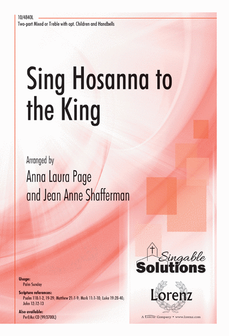 Sing Hosanna to the King