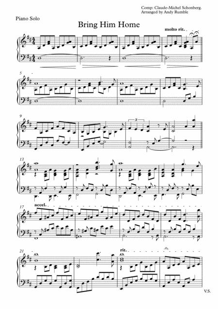 Bring Him Home (Piano Solo)