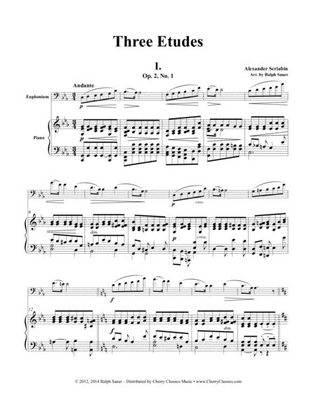 Three Etudes for Euphonium and Piano