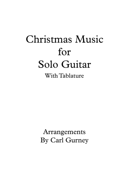 Christmas Music for Solo Guitar
