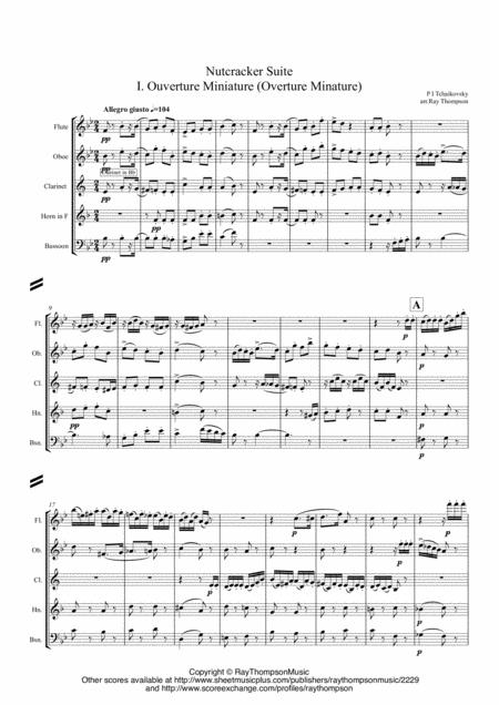 Tchaikovsky: Casse-Noisette: Nutcracker Suite (Complete) (SCORE and PARTS) - wind quintet