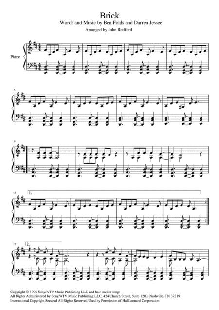 Brick piano (piano solo)