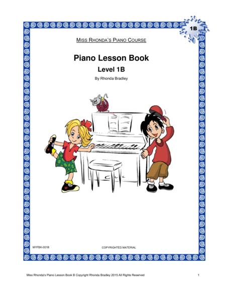 Piano Lesson Book 1B Miss Rhonda's Piano Course for Kids