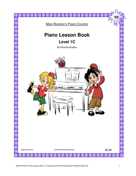 Piano Lesson Book 1C Miss Rhonda's Piano Course for Kids
