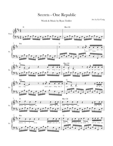 Secrets - Solo Piano