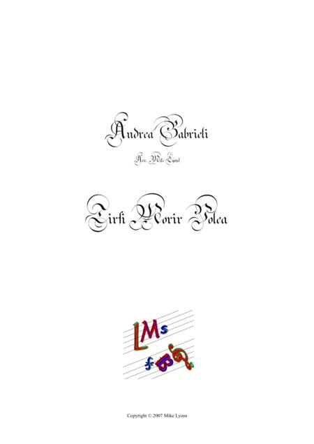 Tirsi Morir Volea (Brass Septet)