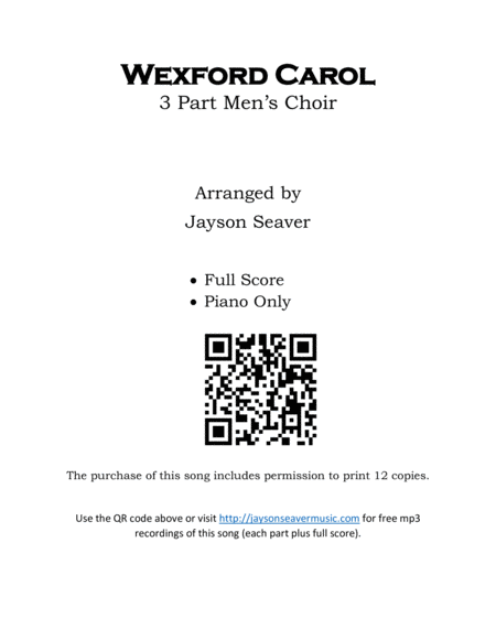 Wexford Carol (Men's Choir)