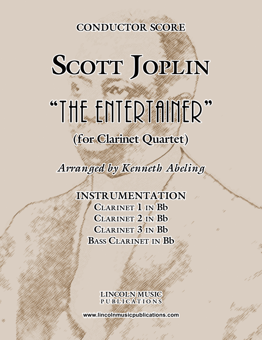 "Joplin - ""The Entertainer"" (for Clarinet Quartet)"