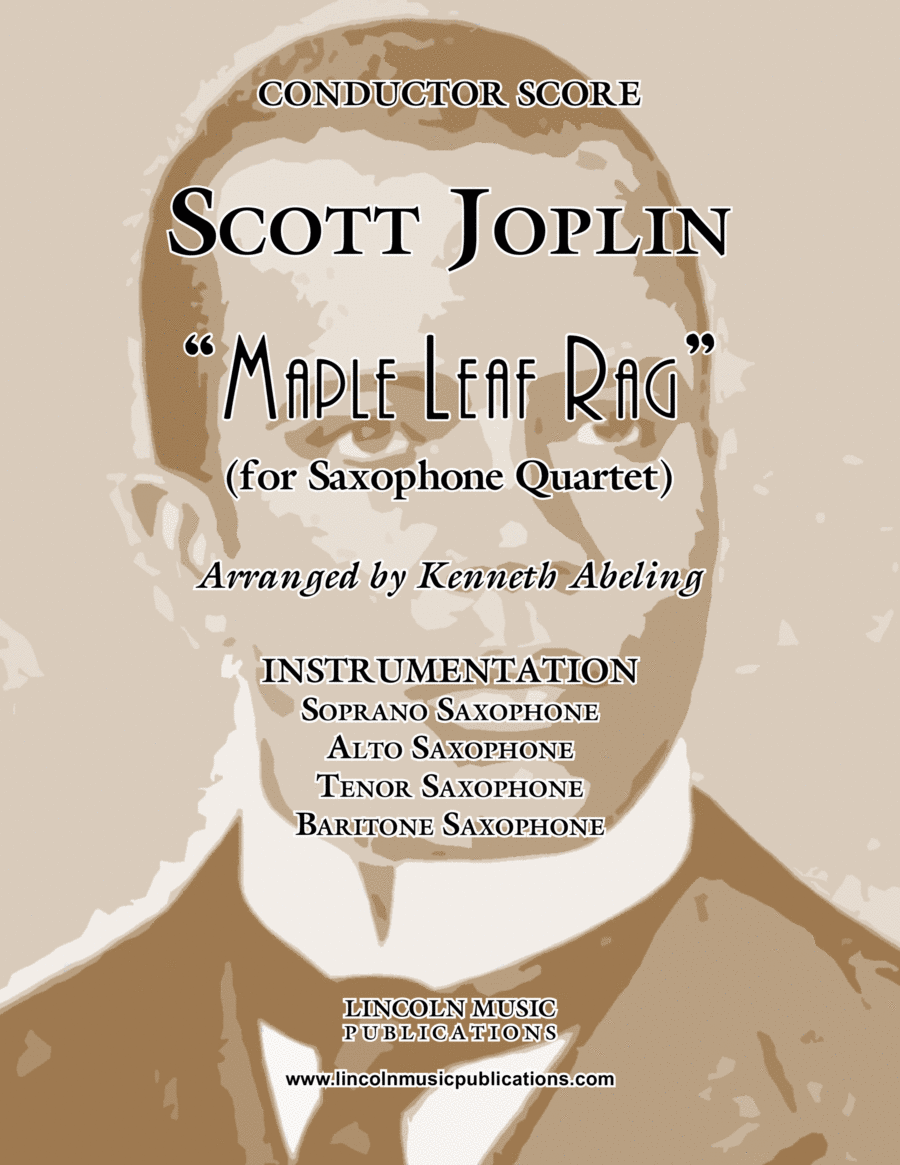 "Joplin - ""Maple Leaf Rag"" (for Saxophone Quartet SATB)"