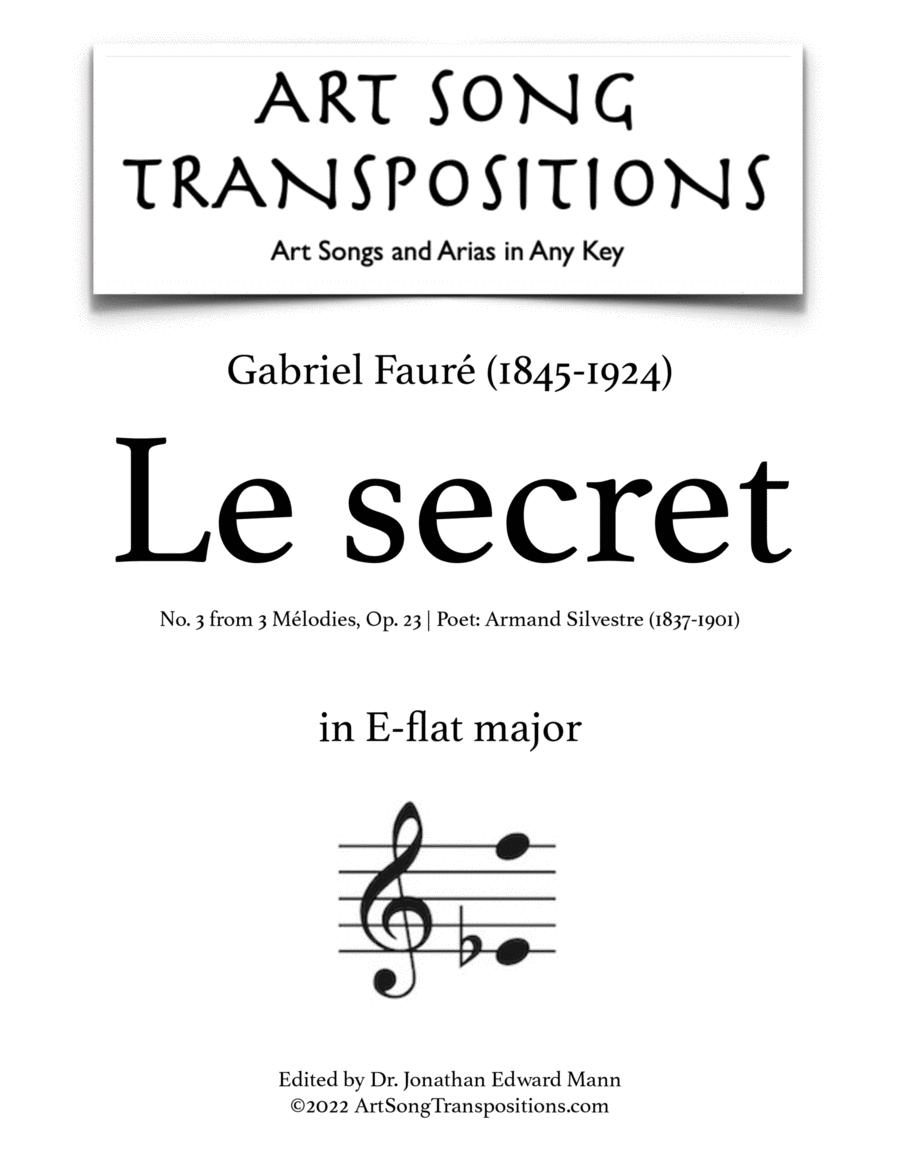 Le Secret, Op. 23 no. 3 (E-flat major)