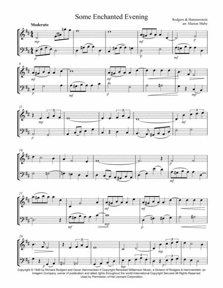 Some Enchanted Evening violin-cello duet