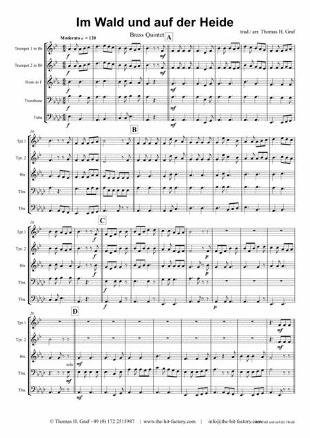 Im Wald und auf der Heide - German March/Octoberfest - Brass Quintet