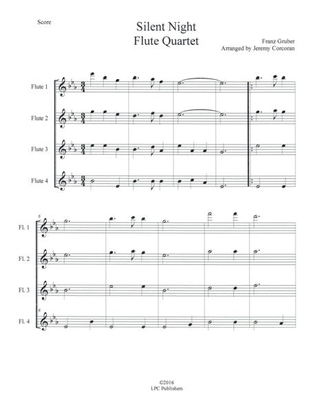 Silent Night for Flute Quartet