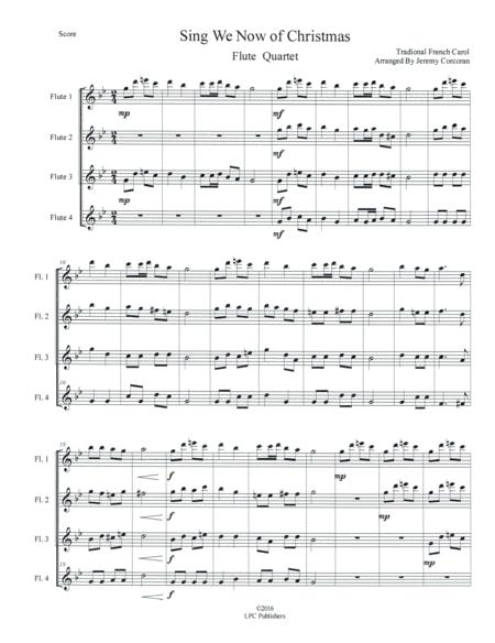 Sing We Now of Christmas for Flute Quartet