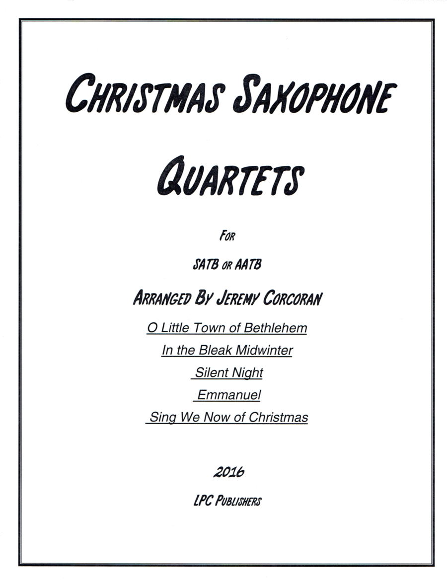 5 Christmas Carols for Saxophone Quartet