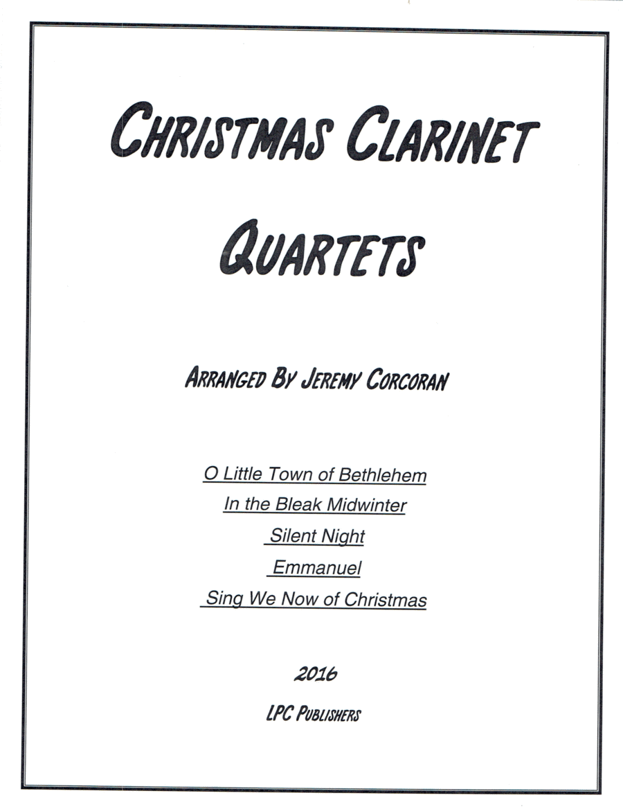 5 Christmas Carols for Clarinet Quartet