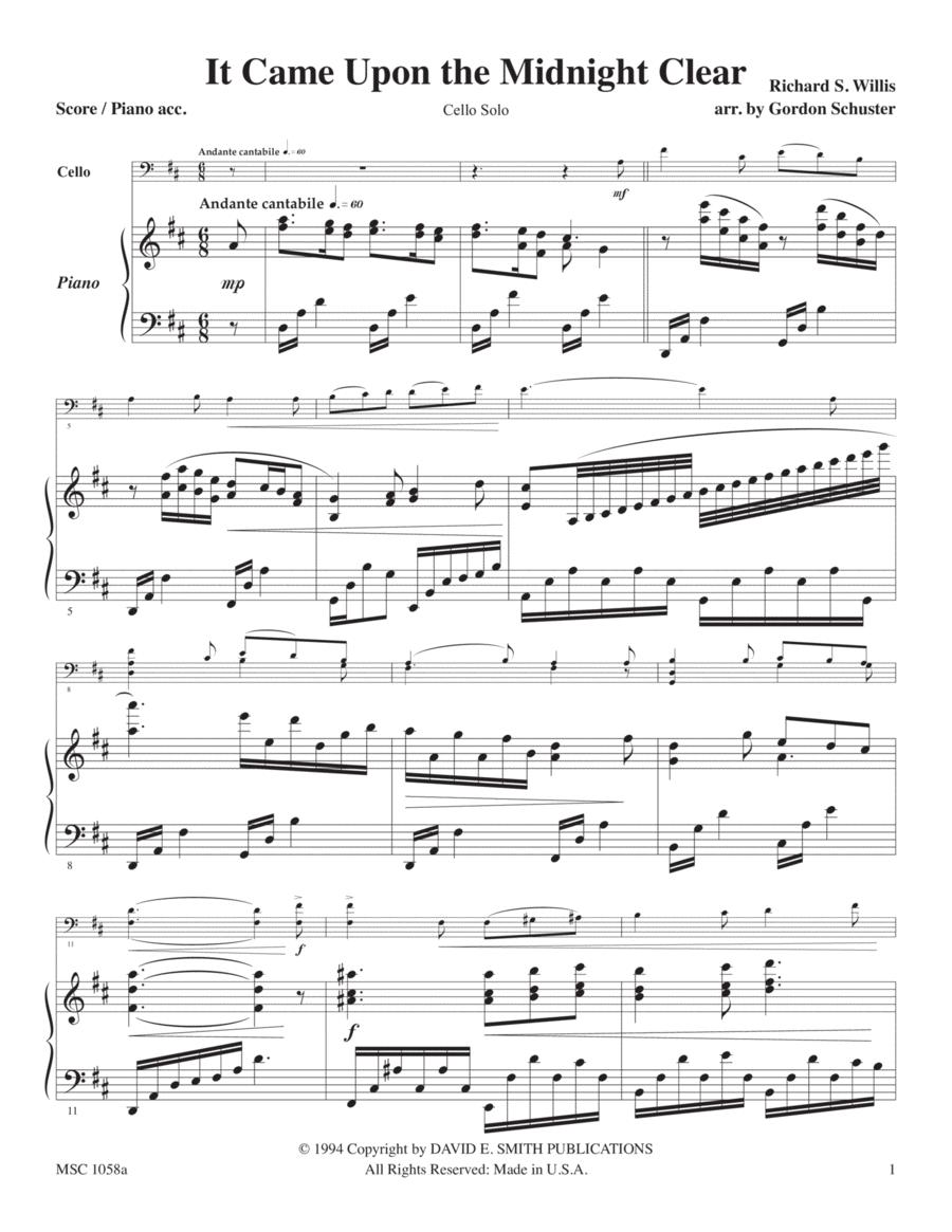 Maj. Christmas Solos - Cello, Vol. 2