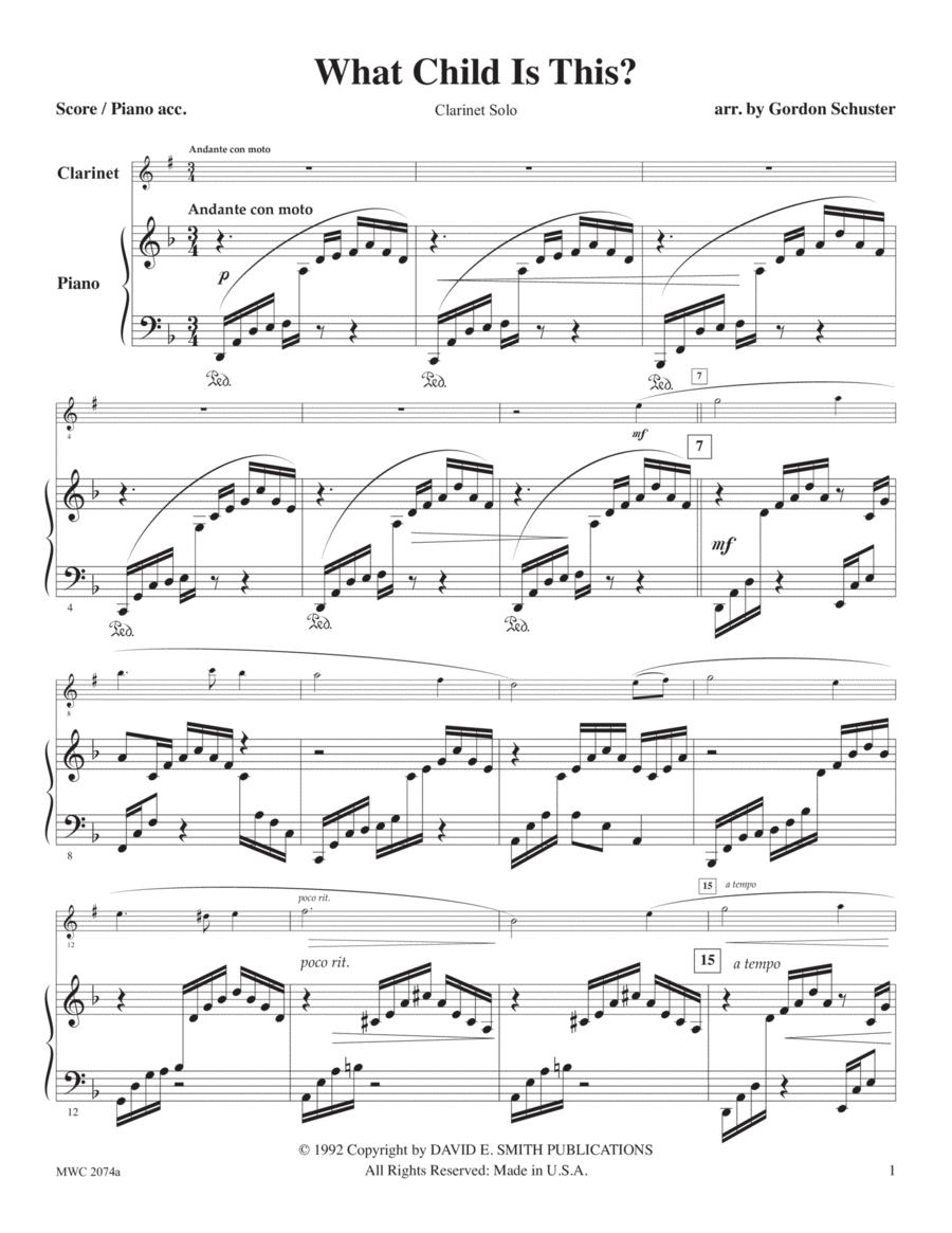 Three Christmas Solos, Clar. Vol. 2