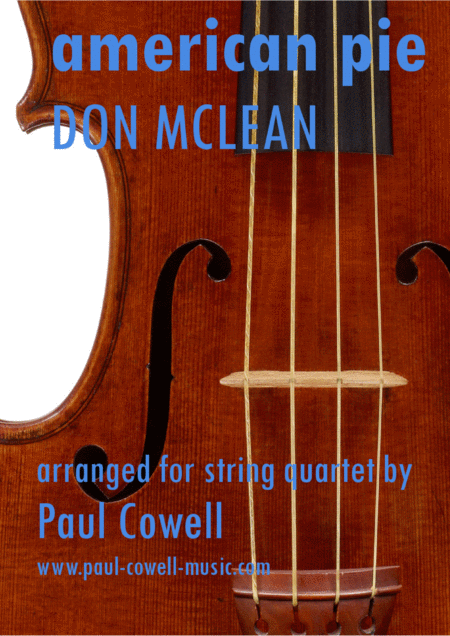 American Pie for string quartet