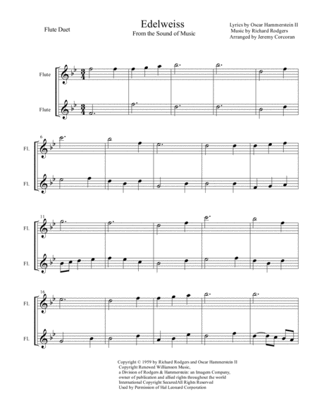 Edelweiss Flute Duet
