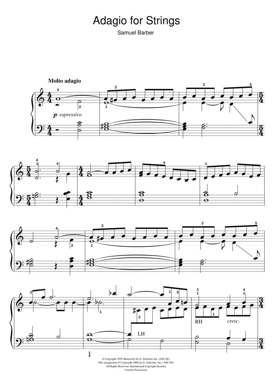 Adagio For Strings Op. 11