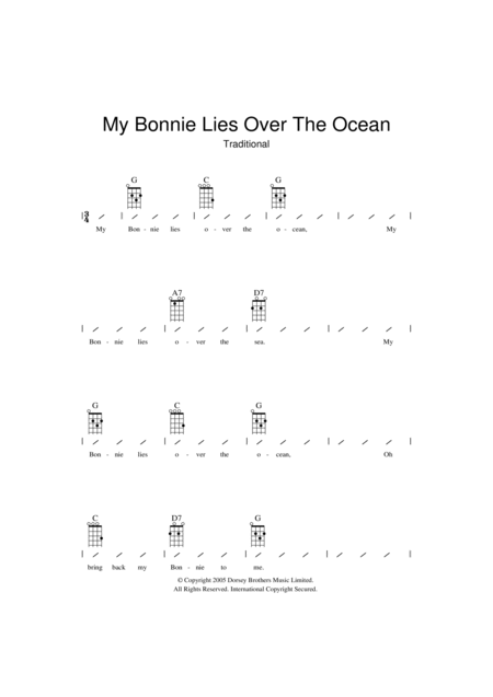 My Bonnie Lies Over The Ocean